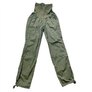 Motherhood Maternity Olive Green Cargo Capri Pants